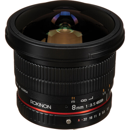 Rokinon 8mm f/3.5 HD Fisheye Lens with Removable Hood for Pentax K