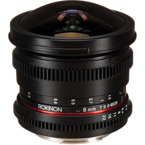 Rokinon 8mm T3.8 Cine UMC Fisheye CS II Lens for Canon EF Mount
