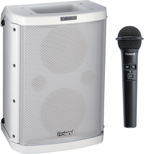 Roland BA-55 Battery Powered Portable Amplifier (White)