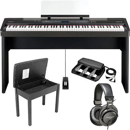 Roland FP-7F Digital Piano Home and Studio B&H Kit (Black)