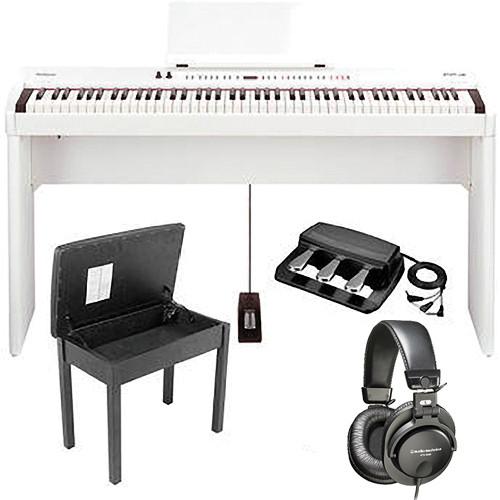 Roland FP-7F Digital Piano Home and Studio B&H Kit (White)