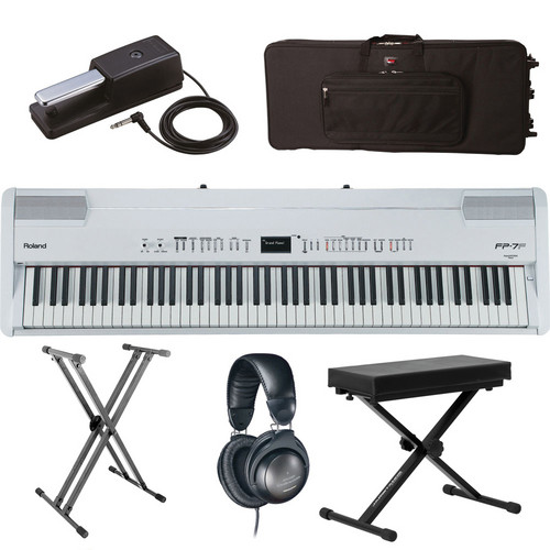 Roland Roland FP-7F Digital Piano Road Ready Kit (White)