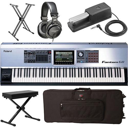 Roland Keyboard Workstation 88 Keys : roland fantom g8 88 key workstation value bundle b h photo video ~ Russianpoet.info Haus und Dekorationen