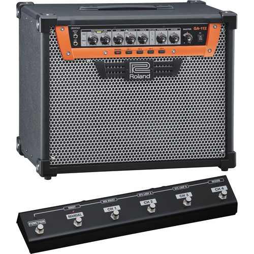 Roland GA-112 Guitar Amplifier with GA-FC GA Foot Controller