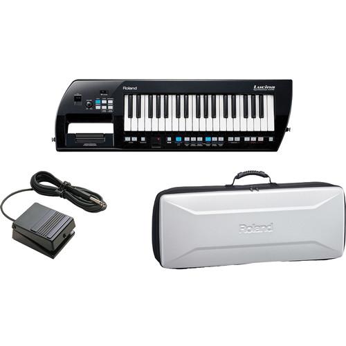 Roland Lucina AX-09 Synthesizer Keyboard Kit (Black Sparkle)
