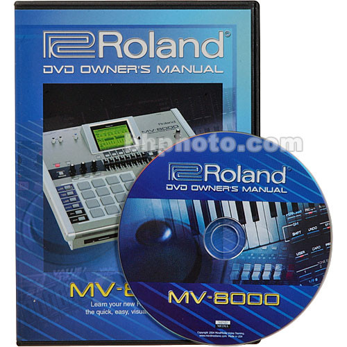 Roland DVD: Owner's Manual for MV-8000 - MIDI Production Studio with Sampling