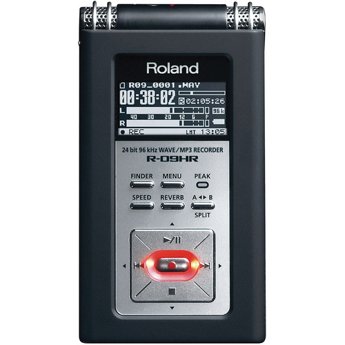 Roland R-09HR Portable High-Resolution Audio Recorder with Case