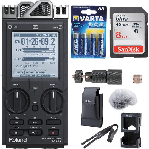 Roland R-26 6-Channel Digital Field Audio Recorder Kit