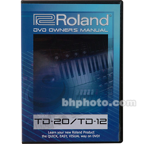 roland dvd owner s manual for roland td20 td 20  td 12dvm b h roland td 20 manual download roland td 20 manuale italiano