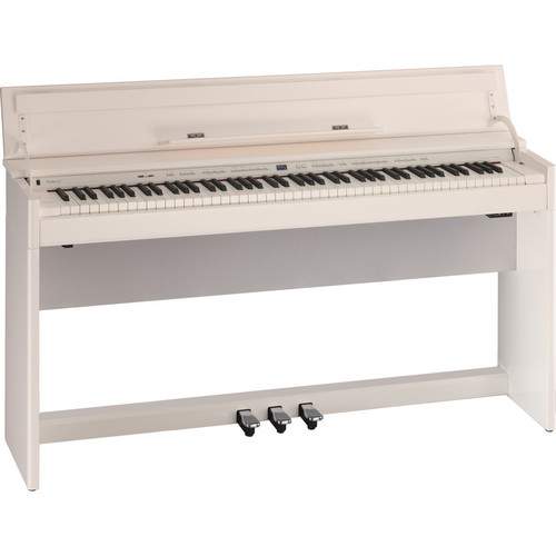 Roland DP90S 88-Key Digital Piano and Matching Bench (Polished White)