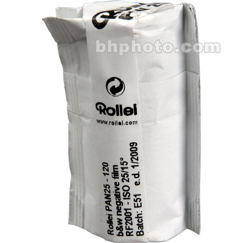 Rollei Pan 25 120mm Black and White Negative (Print) Film