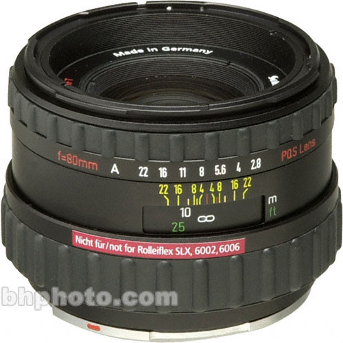 Rollei Normal 80mm f/2.8 AF-Xenotar PQ Auto Focus Lens for 6008AF Camera
