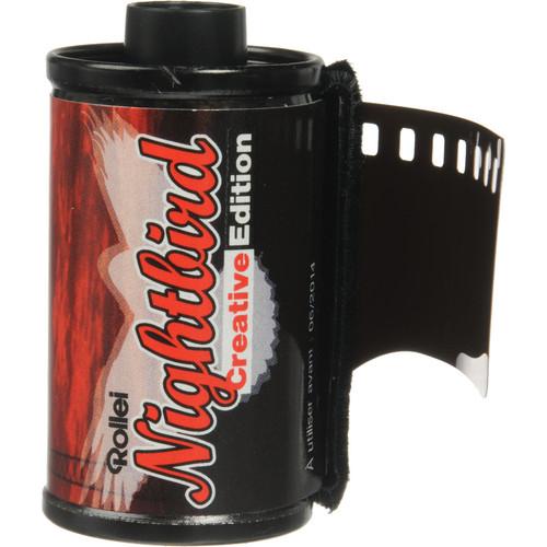 Rollei Nightbird 800 Redscale Color Negative Film (35mm Roll Film, 36 Exposures)
