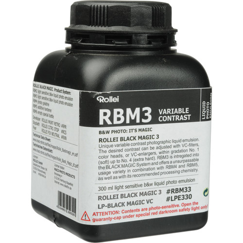 Rollei Maco Black Magic Liquid Emulsion, Variable Contrast (300ml)