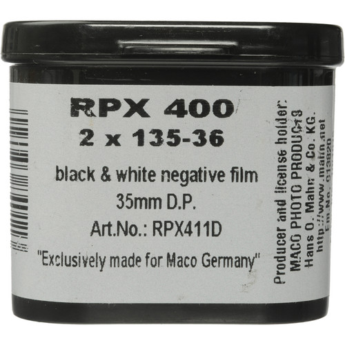 Rollei RPX 400 35mm Black and White Negative Film (36 Exposure, 2 Pack)