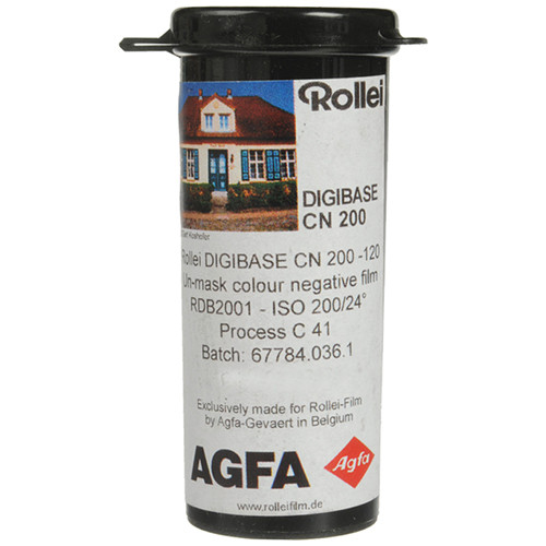 Rollei Digibase CN 200 PRO Color Negative Film (120 Roll Film, 5 Pack)