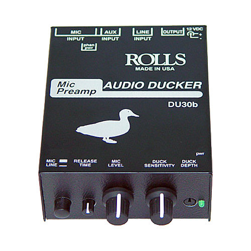 Rolls DU30b Audio Ducker with Microphone Preamp