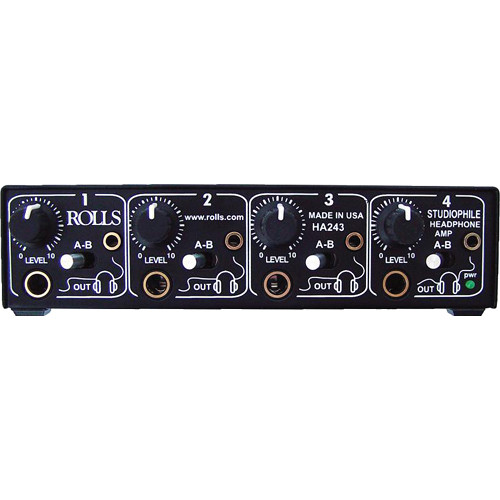 Rolls HA243 4-Channel Studiophile Headphone Amplifier