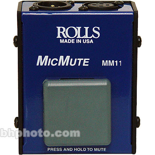 Rolls MicMute - In-Line Momentary Microphone Mute Switch