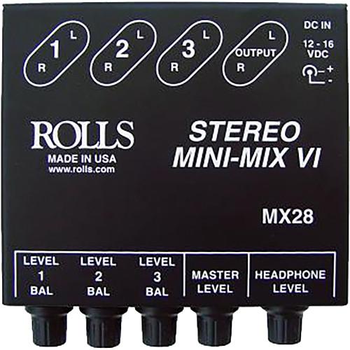Rolls MX28 Mini-Mix VI Compact Stereo Line Mixer