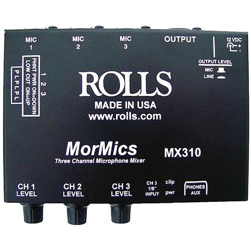 Rolls MX310 MorMics 3-Channel Mic Mixer/Combiner