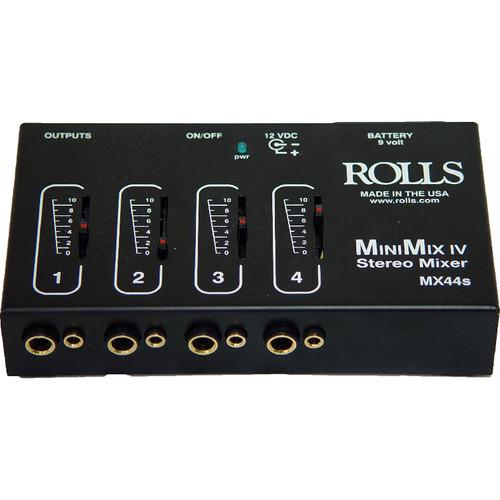 Rolls MX44s Mini-Mix IV Mini 4-Channel Audio Mixer