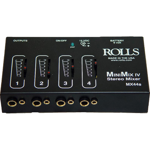 Rolls MX44s Mini-Mix IV Mini 4-Channel Audio Mixer