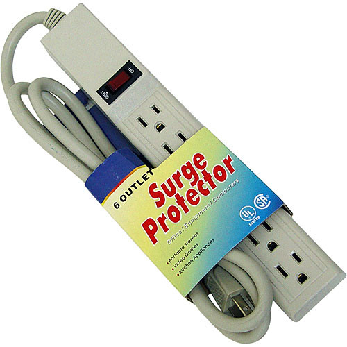 Rolls OS10 6-Outlet 3-Prong AC Grounded Surge Protector
