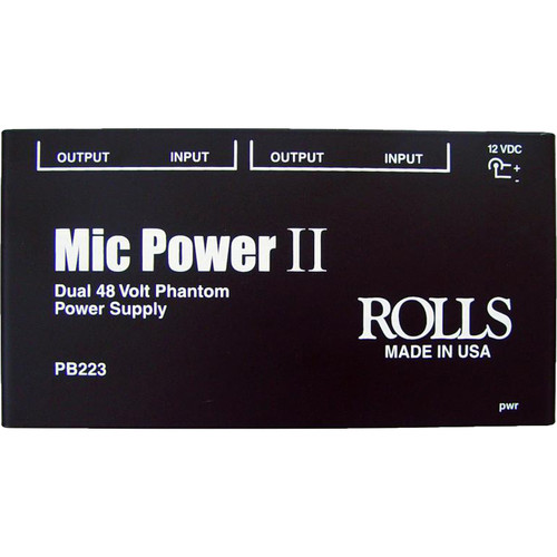 Rolls PB223 Dual 48V Phantom Power Supply