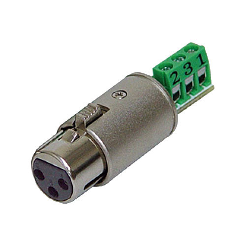 Rolls XLF112 3-Pin XLR Female Termination Plug for Bare Wire Connection