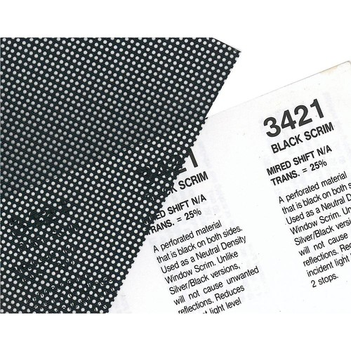 "Rosco Cinegel #3421 BlackScrim Filter (48"" x 25' Roll)"
