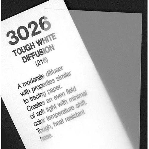 Rosco Fluorescent Lighting Sleeve/Tube Guard (#3026 Tough White Diffusion, 2' Long)
