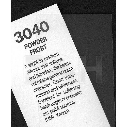 Rosco Fluorescent Lighting Sleeve/Tube Guard (#3040 Powder Frost, 2')