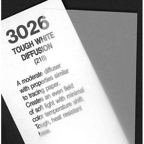 Rosco Fluorescent Lighting Sleeve/Tube Guard ( #3026 Tough White Diffusion, 3' Long)