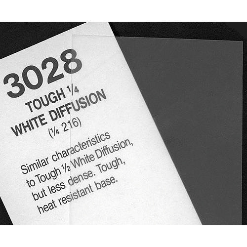 Rosco Fluorescent Lighting Sleeve/Tube Guard ( #3028 Tough 1/4 White Diffusion, 3' Long)
