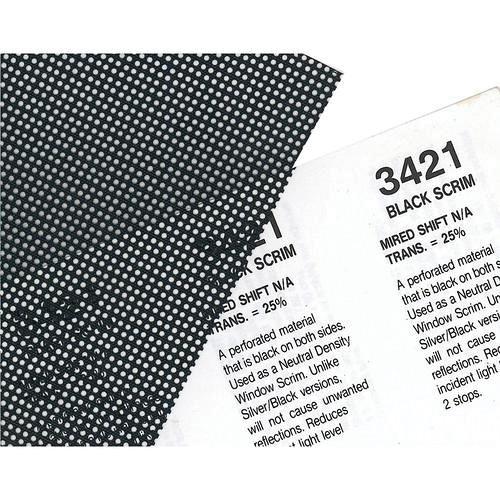 Rosco Fluorescent Lighting Sleeve/Tube Guard ( #3421 Blackscrim, 3' Long)