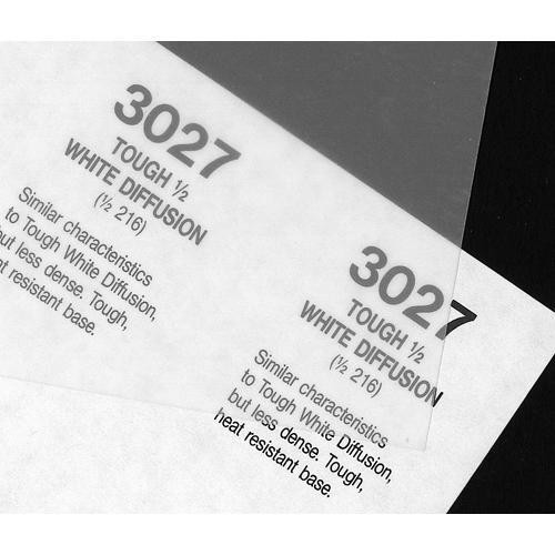 Rosco Fluorescent Lighting Sleeve/Tube Guard (#3027 Tough 1/8 White Diffusion, 3' Long)