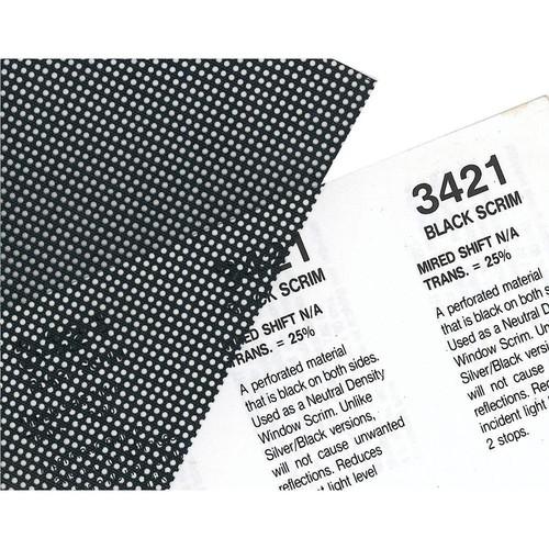 Rosco Fluorescent Lighting Sleeve/Tube Guard (#3421 Blackscrim, 3' Long)