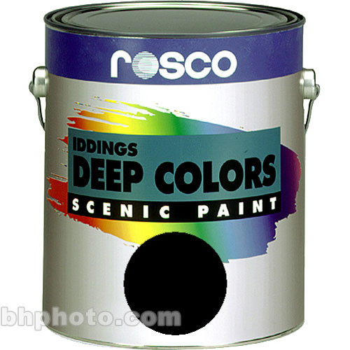 Rosco Iddings Deep Colors Paint - Black - 5 Gal.