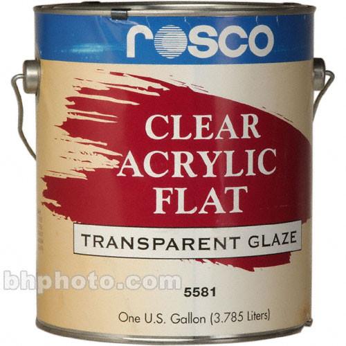Rosco Clear Flat Acrylic Glaze - 1 Gal.