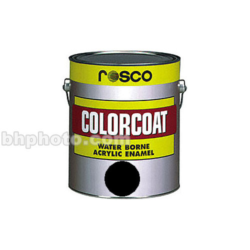 Rosco ColorCoat Paint - Flat Black - 1 Qt.