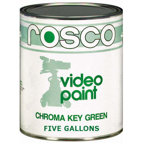 Rosco Chroma Key Paint (Green, 5 Gallons)