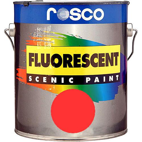 Rosco Fluorescent Paint (Red, Matte, 1 Gallon)