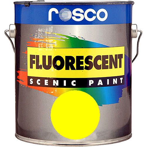 Rosco Fluorescent Paint (Yellow, Matte, 1 Pint)