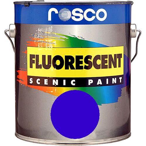 Rosco Fluorescent Paint (Blue, Matte, 1 Pint)