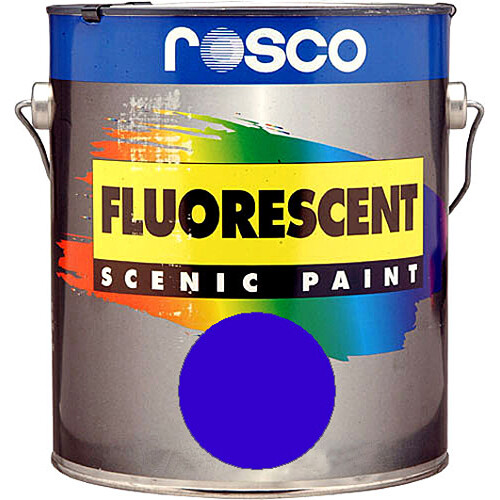 Rosco Fluorescent Paint (Blue, Matte, 1 Gallon)