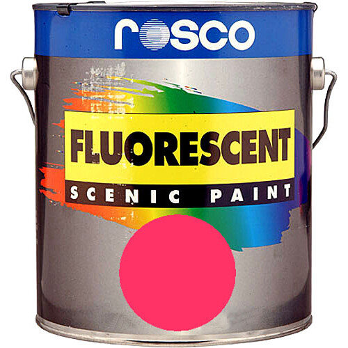 Rosco Fluorescent Paint (Pink, Matte, 1 Quart)