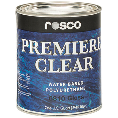 Rosco Premiere Clear Gloss Paint (1 Quart / 0.946 liters)