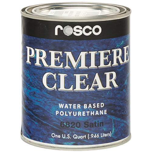 Rosco Premiere Clear Satin Paint (1 Quart / 0.946 liters)