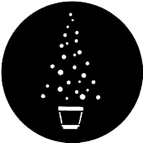 Rosco Standard Steel Gobo #7363 - Christmas Tree A
